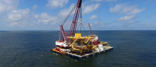 Four Pile Removal with a Jacket Reef GI 78 A Gulf of Mexico